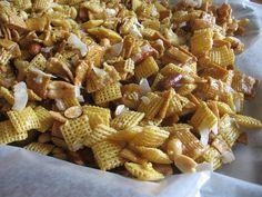 Sweet and Chewy Coconut Chex Mix ~ Lulu the Baker
