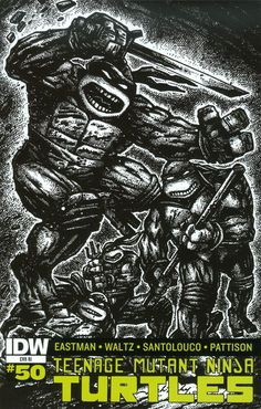 Teenage Mutant Ninja Turtles Vol 5 #50 Cover E Incentive Jack Kirby & Kevin Eastman Variant Cover