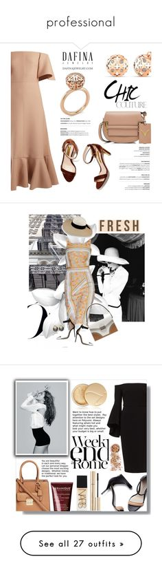 """""""professional"""" by frosythia ❤ liked on Polyvore featuring Valentino, ring, earrings, finejewelry, dafinajewelry, Marchesa, Prada, Shourouk, Gianvito Rossi and Eugenia Kim"""