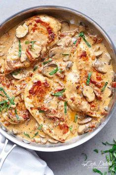 Creamy Sun Dried Tomato Parmesan Chicken (No Cream) - Cafe Delites