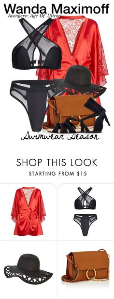 """""""Wanda Maximoff - Age Of Ultron - SWIMWEAR"""" by nerd-ville ❤ liked on Polyvore featuring Coco de Mer and Chloé"""