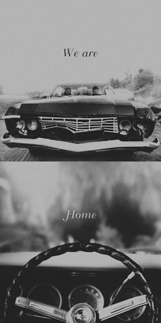 Supernatural: SPN Dean and Sam Winchester ♡ & Chevy Impala Castiel, Supernatural Destiel, Wallpapers Supernatural, Supernatural Series, Supernatural Season 4, Supernatural Bloopers, Supernatural Tattoo, Sam E Dean Winchester, Sam Dean