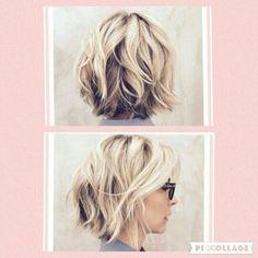 10 Best Hairstyles Ideas for Shoulder Length Hair Jenna Elfmans new haircut! Medium Long Hair, Medium Hair Cuts, Short Hair Cuts, Medium Hair Styles, Curly Hair Styles, Short Wavy, Short Blonde, Textured Haircut, Shoulder Length Hair