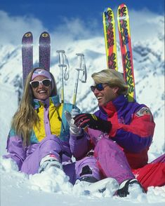 Words cannot describe how much I love this photo. #retro #neon #skiing #90s #snowbird #snowbirdarchives #skiutah