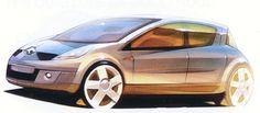 OG | 2005 Renault Clio Mk3 - X85 | Design sketch