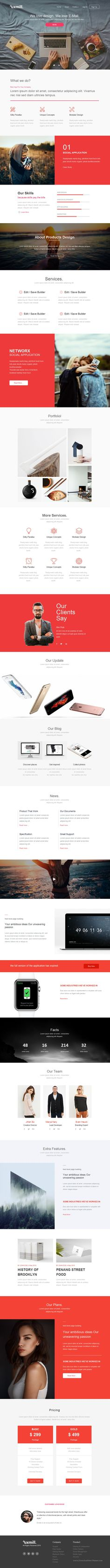 Uxmill is best Responsive Email Template for #Marketing donwload Now! #Newsletter #emailtemplate