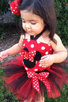 Gorgeous minnie mouse tutu with top by DanaandGaelsplace on Etsy, $42.50