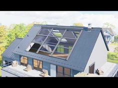 Dachflächenfenster W30 - YouTube Attic Master Bedroom, Upstairs Bedroom, Roof Window, Attic Window, House Roof Design, Small Apartment Bedrooms, Roof Types, Contemporary Interior Design, Brickwork
