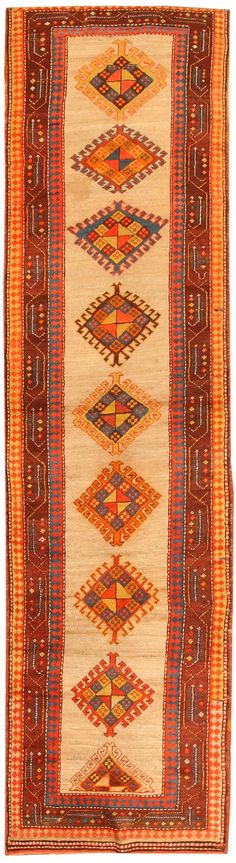 Antique Kazak Caucasian Rug I Nazmiyal
