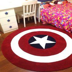 Captain America Round Rug