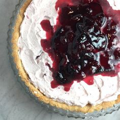 Damson Plum & Cream Tart