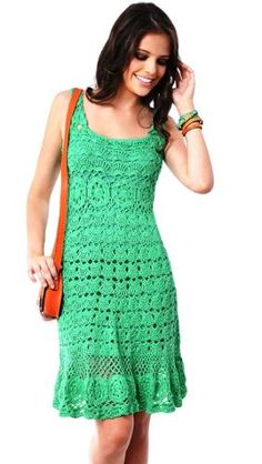 Lindos Vestidos De Crochê Artesanal. - R$ 279,00 Blouse Dress, Knit Dress, Dress Skirt, Dress Pants, Crochet Art, Crochet Woman, Crochet Tattoo, Crochet Tops, Crochet Clothes