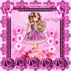 """**Tag show off & freebie snags** WOW! A beautiful tag made by Dizzyz Creations using my NEW PTU scrap kit """"Megs Pink Passion"""""""