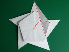 5 pointed origami star step 4a