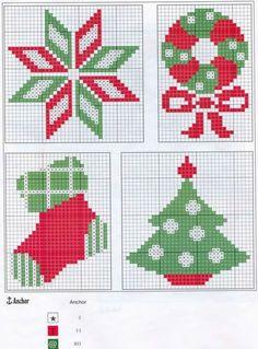 мини вышивка крестом новогодние схемы: 26 тыс изображений найдено в Яндекс.Картинках