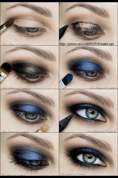 Smokey eye make-up is principally in a black or a gray tone. It appears like the colour of woods that are burned. Nonetheless, the right smoky eye make-up could be pure. A number of eye shadows are blended naturally to… Continue Reading → Blue Eye Makeup, Smokey Eye Makeup, Love Makeup, Beauty Makeup, Makeup Looks, Smokey Eyeshadow, Amazing Makeup, Makeup Eyeshadow, Makeup Brushes