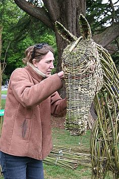 Willow Weaving at the National Country Fair, Emo Court, Portlaoise, County Laoise, Ireland