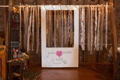 Make your own #photobooth. Photo by Shutterchic Photography.