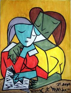 Pablo Picasso「Two girls reading」(1934)