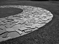 Richard Long land art. Springtime 2006 at Villa Panza di Biumo, Varese