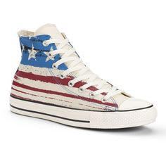 f19b3015ca3406 Adult Converse Chuck Taylor All Star American Flag High-Top Sneakers ( 48) ❤
