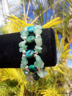 All natural semiprecious green Australian by ArtsyAdventures, $30.00