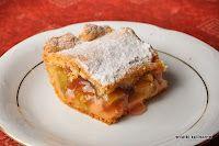 notatki kulinarne: Placek z rabarbarem wg. Alidab