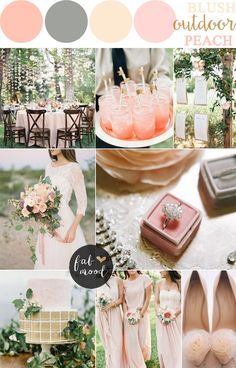 Peach sage blush wedding color palette