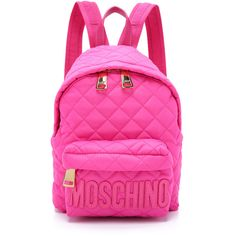 Moschino Moschino Backpack ($380) ❤ liked on Polyvore featuring bags, backpacks, backpack, moschino, pink, knapsack bag, backpack bags, day pack backpack and pink bag