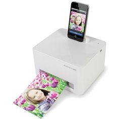 TEENS: iPhone Photo Printer - SkyMall $159.95 #elementsdesign  #HolidayGiftGuide www.elementsdesign.com