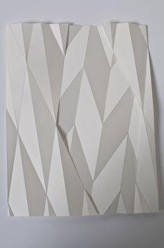 Abschattungen  folded paper  28x20cm  2011