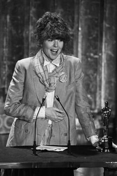 """Diane Keaton in her """"Annie Hall"""" best at the Oscars, 1978"""