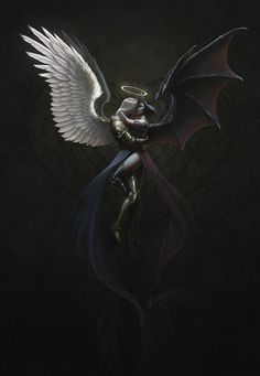 Dark Fantasy Art, Fantasy Artwork, Dark Gothic Art, Demon Aesthetic, Heaven Art, Beautiful Dark Art, Demon Art, Scary Art, Angel And Devil