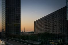 Paris from La Defense (With its Architectures) at Sunrise