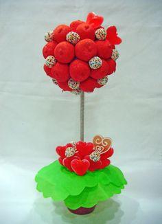 arboles de chuches para comunion - Buscar con Google Ideas Para Fiestas, Candy Buffet, Cupcakes, Birthday, Fondant, Google, Candy Stations, Sweet Trees, Kabobs