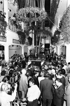 Princess Margaret officially opens the Eldon Garden Shopping Centre in November 17, 1989