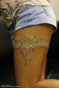 Garter Tattoo http://activelifeessentials.com/body-canvas/ #bodyart #tattoos