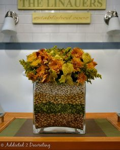 Vase in a vase flower arranging for fall. Beautiful.
