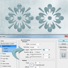 photoshop layer style effect bevel and emboss continued
