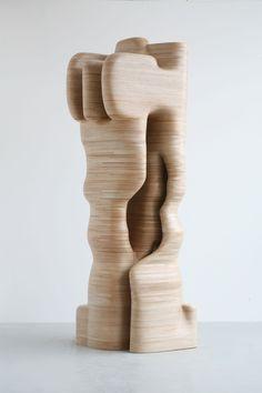Tony Cragg, Hamlet, 2009 Wood 386 x 130 x 100 cm 152 x 51 x 39 in. Art Sculpture, Abstract Sculpture, Wire Sculptures, Bronze Sculpture, Lisson Gallery, Art Gallery, Contemporary Sculpture, Contemporary Art, Plywood Art