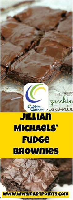Jillian Michaels' Fudge Brownies 4 weight watchers smartpoints These wouldn't exactly pass for regular brownies, but if you are craving something sweet & Weight Watcher Desserts, Weight Watchers Meals, Weight Watchers Brownies, Weight Watchers Cupcakes, Weight Watchers Zucchini, Jillian Michaels, Fudge Brownies, Healthy Desserts, Delicious Desserts