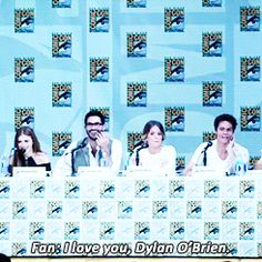 Dylan O'Brian's preciousness reduced a girl to tears and hugging her did not make it stop. | The 21 Most Amazing Things That Happened At Comic-Con This Year