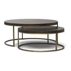 BASSEY NESTING COCKTAIL TABLE (19.064.950 IDR) ❤ liked on Polyvore featuring home, furniture, tables, accent tables, stackable furniture, nesting accent tables, nested tables, nesting cocktail tables and stacking tables