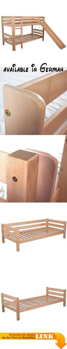 B0778LNJRD  120x200 cm Bett aus Kiefer Jugendbett Vollholz Holz