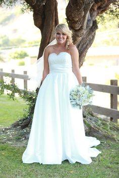 Para una boda shabby chic un vestido para novias gorditas increible