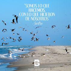 """""""Somos lo que hacemos, con lo que hicieron de nosotros"""" Sartre  Visítanos: http://www.elsalvadorebooks.com/"""