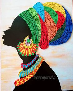 Best 12 Gallery - Here is my finished African Lady Portrait made with my design which I will frame soon. Black Love Art, Black Girl Art, African American Art, African Women, Inspiration Drawing, Afrique Art, African Art Paintings, Afro Art, Button Art