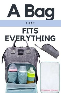 Best Diaper Bag. New moms LOVE this. Compact but Fits Everything.
