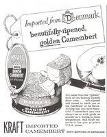Kraft Danish Camembert Cheese 1960 Ad Picture