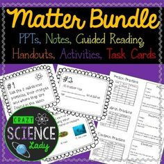 Everything you need to teach matter to middle-schoolers!